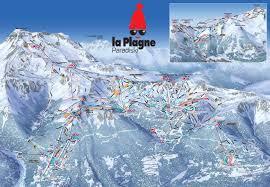 plan des pistes de ski la plagne