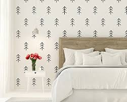 Amazon Com Christmas Tree Modern Farmhouse Tree Wall Decal Rustic Wall Decor Woodland Wall Decor Pine Tree Wall Decal Nursery Decor Lodge Decor Handmade
