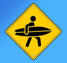 Surfer Sign Wall Sticker Tenstickers