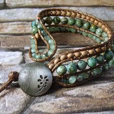 western boho turquoise beaded leather