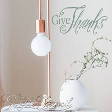 Give Thanks Wall Decal Removable Wall Stickers To Express Gratitude