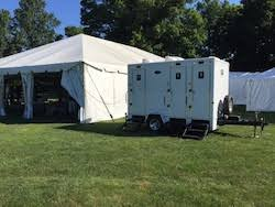 portable toilets restroom trailers