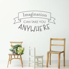 Creative Quotes Wall Sticker For Kids Boy Room Imagination Can Inspi Home Decor