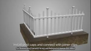 Zippity Outdoor Products Zp19001 Picket Fence 1 X Pack Of 2 White Mpsn2 Youtube
