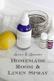 diy lemon and lavender room spray