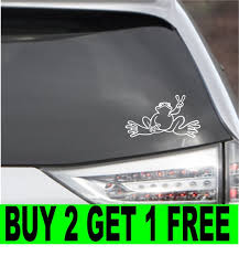 Peace Frog Decal Sticker Wall Laptop Car 4 Etsy