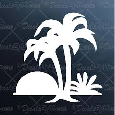Best Prices On Palm Trees Sunset Car Truck Decals