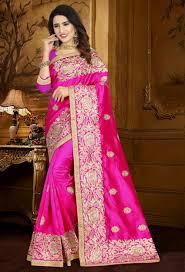 pink zoya art silk designer saree srdjd60