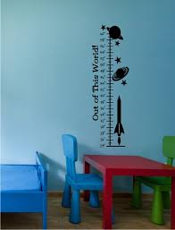 Kids Galactic Space Growth Chart Decal Space Decals Rockets Decal Krazy Signs Usa Inc