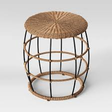 patio all weather wicker end table