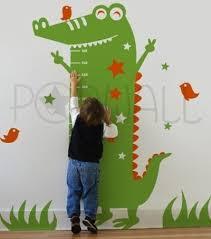 Alligator Wall Decal Alligator Growth Chart Alligator Wall Sticker Crocodile Wall Decal Dieren