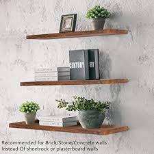 floating shelves rustic wood