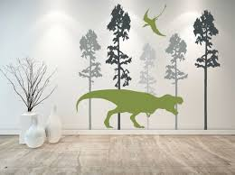 Large Wall Decal T Rex Wall Decal Dinosaur Wall Decor Boy Etsy