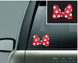 Mouse Bow Glitter Car Window Sticker By Mousekoutureandco On Etsy Car Window Stickers Glitter Car Window Stickers