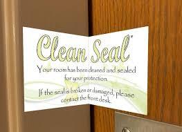 Coronavirus In Door County Stickers Assure Hotel Guests Of Clean Rooms