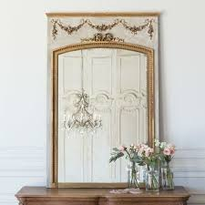 antique french haussian trumeau mirror
