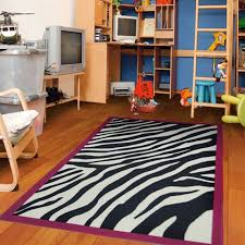Pink Border Zebra Kids Girls Play Area Rug Contemporary Kids Rugs By Furnishmyplace