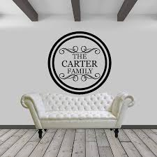 Circle Family Name Vinyl Wall Decal Design Home Sticker Sold By Sticker This On Storenvy