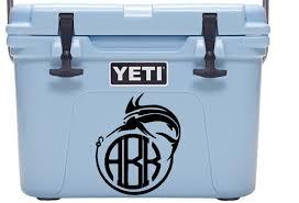 Monogram Yeti Cooler Decal Yeti Decal Yeti Monogram Decal Yeti Cooler Sticker Cooler Decals Monogram Decals Fishing Hunting Monogram