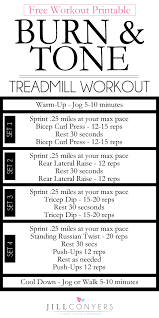 tone and burn treadmill workout