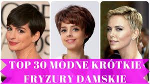 Top 30 Modne Krotkie Fryzury Damskie Youtube