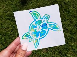 Sea Turtle Decal Ocean Child Turtle Sticker For Car Laptop Etsy
