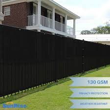 Customize 5 Ft Tall Black Privacy Screen Fence Windscreen Mesh Shade Cover Ebay