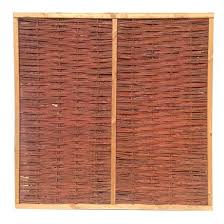 Willow Framed Woven Fence Panel 1 8m X 1 8m
