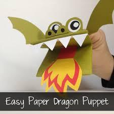 Paper Dragon Puppets - A Fun Paper Puppet Craft