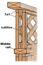 How To Build Wood Lattice Fence Pdf Woodworking