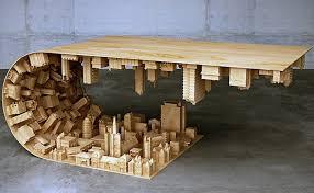 contemporary unique wood coffee table