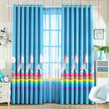 The Blue Colored Cute Unicorn Curtains For Kids Room丨boys Room Design丨unicorn Drapes丨rainbow Curtains Pa Kids Curtains Curtain Fabric Design Childrens Curtains