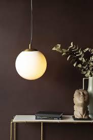 white glass globe pendant light
