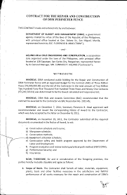 Http Www Dbm Gov Ph Wp Content Uploads Bids Summary Of Awarded Contract 1 Contract Rc Dbm Perimeterfence Pdf