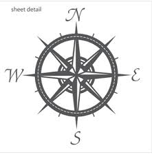 Compass Wall Decal Sticker