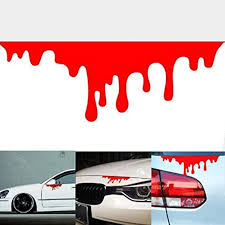 Amazon Com Tuscom Red Car Stickers Reflective Car Decals Light Bumper Body Sticker Decal Red Home Kitchen