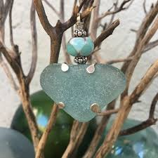 sea glass and lampwork and jewelry