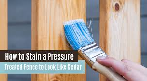 How To Stain A Pressure Treated Fence To Look Like Cedar Pine River Group