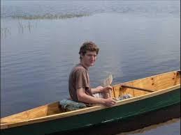 homemade plywood canoe river drifter