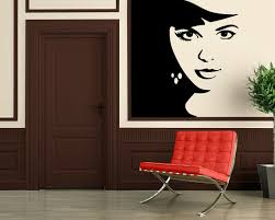 Wall Stickers Vinyl Decal Hot Sexy Girl Female Beauty Barbershop Face Wall Ig086 For Sale Online