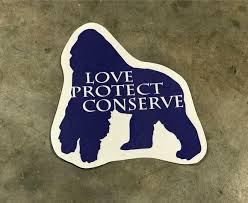 Gorilla Love Protect Conserve Vinyl Decal Animals Anonymous Apparel