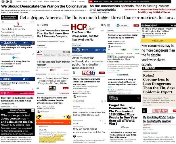 fake news covid-19 Wuhan Virus headlines