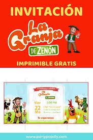 Invitacion La Granja De Zenon Lagranja Zenon Imprimibles