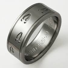 mens anium wedding rings uk