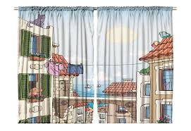 Kids Room Window Decor Curtain Panel Set Of 2