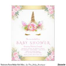 Invitaciones Baby Shower Nina Unicornio Baby Viewer