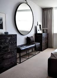 big round mirror black frame rimmed