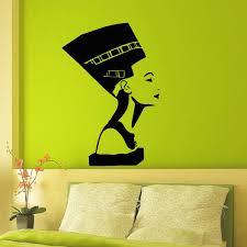 Wall Decal Vinyl Sticker Ancient Egyptian Symbol Queen Nefertiti Interior Design Wall Art Bedroom Living Room Girls Wall Home Decor Wish