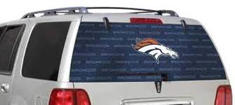 Amazon Com Denver Broncos Full Rear Auto Window Film Decal Graphics Sticker Football Sports Outdoors