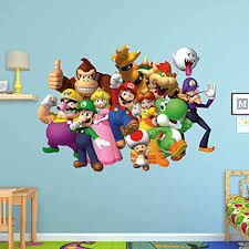 Amazon Com Fathead Super Mario Group Huge Officially Licensed Nintendo Removable Wall Decal Home Kitchen